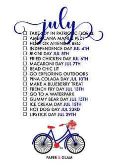 17 Ways to Celebrate July! A monthly seasonal living list helps us celebrate each season of the year and find joy in everyday! An ordinary day in our common cal Life Planner, Happy Planner, Konmari, Monthly Celebration, Silly Holidays, Unusual Holidays, Summer Fun, Summer Time, Summer Loving