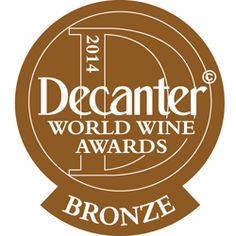 DWWA 2014 Bronze Bottle Stickers - Roll of 1000