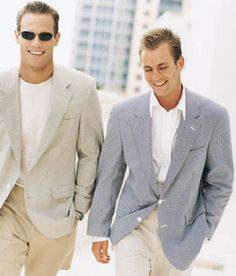 Brett Hollands for Brooks Brothers (Spring 2000) #BrettHollands #malemodel #malesupermodel #model #supermodel #Canadian #BrooksBrothers #BrooksBros #Wilhelmina #WilhelminaModel #FordModels #FordModels_Chi #NextModels #smile #shades #spectacles #glasses #jacket #beach