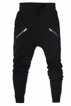 Black Twin Zipper Streetwear Sweatpants at Threader® Streetwear, Hip Hop Clothing, and Urban Clothing