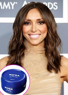 """Giuliana Rancic uses Nivea cream! """"My mom used it all the time too,"""" she tells Us. As like on Wendy's look book March 2014 favorites."""