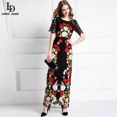 Gorgeous Voile Embroidered Long Dress Women's Elegant Party Gauze Long Dress Who like it ? www.sukclothes.co... #shop #beauty #Woman's fashion #Products