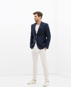 not much more summer in menswear than a blue blazer // except for maybe white pants