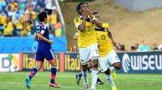 Juan Guillermo Cuadrado (COL) - 1st Goal - Japan vs Colombia 1-4 - Group C 24 June 2014