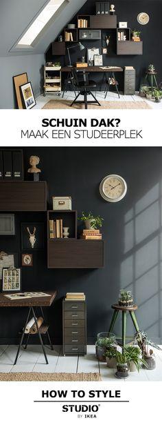 STUDIO by IKEA - Schuin dak? Maak een studeerplek   #IKEA #IKEAnl #STUDIObyIKEA…