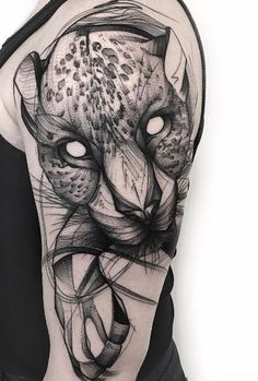 Sketch style leopard by Frank Carrilho