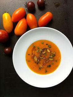 CHILI & VANILIA: Sült paradicsom leves - színes, pazar paradicsomokból