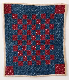 One Patch Doll Quilt: Circa 1890; Pa.