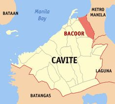 Cavite is a province of the Philippines located on the southern shores of Manila Bay in the CALABARZON region in Luzon, just 30 kilometers south of Manila. Cavite is surrounded by Laguna to the east, Metro Manila to the northeast, and Batangas to the south. To the west lies the South China Sea.