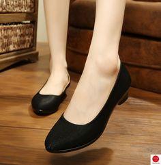 2b5e8cbc5 R$ 40.96  Mulheres Ballet Sapatos Mulheres Cunhas Sapatos para o Trabalho  de Pano Doce Cunhas Sapatos Oversize Barco Loafers Deslizamento Em mulheres  ...
