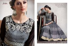 Doll up in this beautiful grey color printed anarkali suit <3 To order pls call/whatsapp us at +919600639563 for booking #elegance #anarkali #partywear #womensfashion #womenswear #trendingnow #beautifuldiva