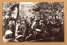 Wilna Postkarte I.Weltkrieg Konzert im Schloßgarten