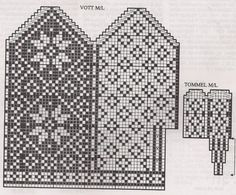 Deathflake Chart pattern by Art Fiend Knitting Charts, Knitting Stitches, Knitting Patterns Free, Baby Knitting, Crochet Mittens Free Pattern, Hand Warmers, Wrist Warmers, Scandinavian Pattern, Tejidos