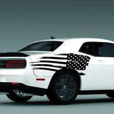 Viper Heart Beat Pulse Decal Sticker Left American Dodge SRT Racing Pair