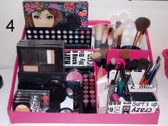 DIY: Porta-Maquiagem feito de caixa de papelão =)