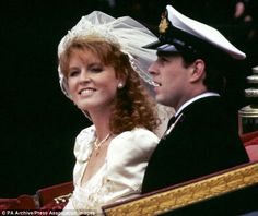 Newlyweds: Sarah on her wedding day to Prince Andrew. She married him for love but found adjusting to life as a princess extremely difficult