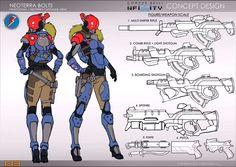 Lead Rising: Bostria's Seminar at Interplanetary 2017 Character Sheet, Game Character, Character Concept, Concept Art, Character Reference, Robots Characters, Fantasy Characters, Female Characters, Infinity Art