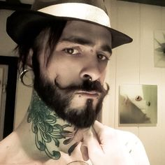 Gents Style, I Love Beards, Stretched Lobes, Sideburns, Gents Fashion, Full Beard, Beard Tattoo, Moustaches, Hair And Beard Styles