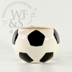 """4"""" Ceramic Soccer Vase"""