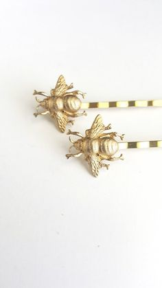 Golden Bee Hair Pins