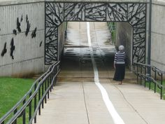 Pedestrian underpass off Pemberton Street; Blackwater Creek Trail would be much improved with lanes :)