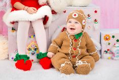 The little gingerbread man Gingerbread outfit mate to order by Mimi's Handmade
