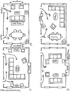 furniture setup for rectangular living room  Google Search  Home
