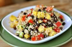 Where has this quinoa salad been all my life? I haven't played around much with quinoa since this salad (which is utterly fantastic) so when my friend, Allyson, brought this particular Mango and Black Bean Quinoa dish to a church activity, I was excited to try it. You know...broaden my quinoa