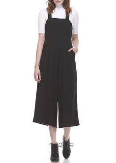 Black Culottes Jumpsuit
