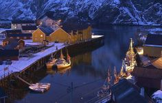 """Nusfjord in Lofoten is one of Norway's oldest and best-preserved fishing hamlets with a long-standing tradition of """"Lofotfiske"""", or seasonal cod fishing"""