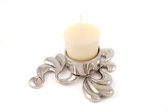 Pewter Candle holder  www.fleurgrenier.co.uk