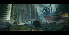 ArtStation - Postapocaliptic world, Dmitry Vishnevsky