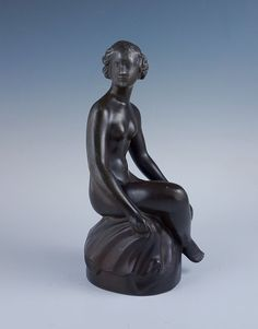 This is a beautiful bronze sculpture of a nude from the noted Danish designer Just Andersen (1884-1943). The sculpture is a wonderful depiction of a lovely young woman seated on a rock and is a striking example of Scandinavian Art Deco sculpture. | eBay!