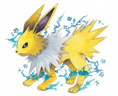 Tags: Anime, Fanart, Pokémon, Pixiv, Jolteon, eevee evolution