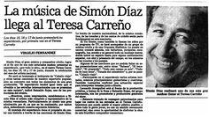 Primer concierto de Simón en el Teresa Carreño. Publicado el 01 de abril de 1990.
