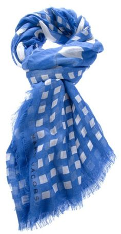 Checked Scarf - Lyst