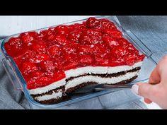 Pridajte si tento recept do záložiek: Perfektný rýchly koláč BEZ PEČENIA - lepší nemajú ani v cukrárni! Strawberry Jam, Strawberry Recipes, No Bake Desserts, Dessert Recipes, Frozen Strawberries, Kakao, Cheesecakes, Wedding Cakes, Easy Meals