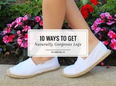Show off your legs in skirts and shorts with this DIY ingrown hair scrub + 9 more favorite tips and remedies for naturally gorgeous legs.