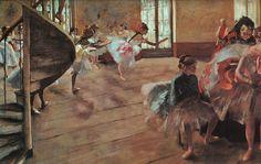 The Rehearsal by Edgar Degas