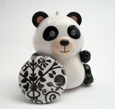 Sophisticated Black & White Pattern 1 Inch Pinback by SparkleFlair, $1.30