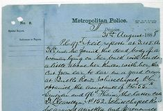Part of a police report on finding the body of Jack the Ripper victim Mary Ann Nichols, 31 August 1888. (c) The National Archives, MEPO 3/140 F 239.