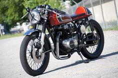 Cafe racer CB360T - WANT!! I could only imagine how it'd be to cruise around on one of these.
