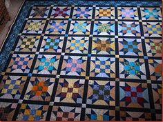 Love the sashing and border colors for this Sister's Choice quilt.