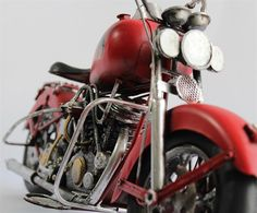 Model Kırmızı Custom Chopper - KLC import