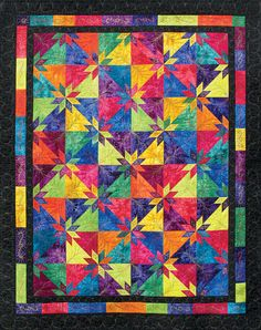 Beautiful Hunter's Star quilt!  http://www.quiltersnewsletter.com/content_downloads/DEB_800.jpg