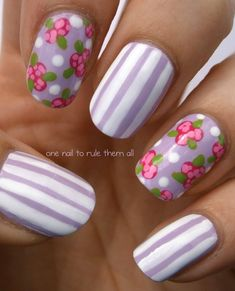 pretty... roses & lilac stripes