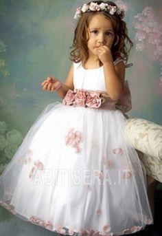 Abito da ragazza di fiore 2014 Alle Caviglie Senza Maniche moda/Moderno