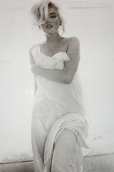 Marilyn Monroe Draped Portrait by Bert Stern