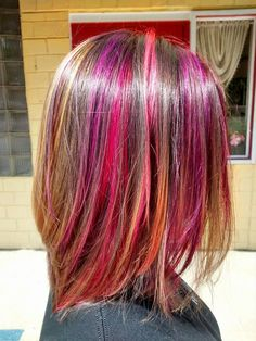 Kenra Color Creative work by Megan Truitt. #RainbowHair #PinkHair