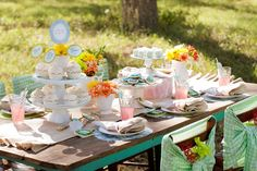 Shabby Chic cake tablescape